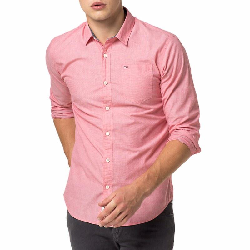 coût modéré pas cher belle couleur Chemise rose Tommy Hilfiger en coton coupe regular