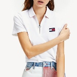Polo femme Tommy Hilfiger Jeans blanc