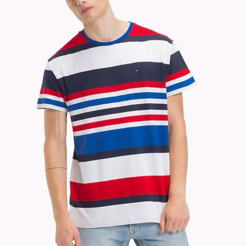 t shirt tommy hilfiger jeans homme blanc rouge et bleu. Black Bedroom Furniture Sets. Home Design Ideas