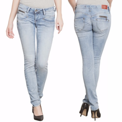 jean Freeman T Porter Alexa slim femme magic denim délavé flexy bleach