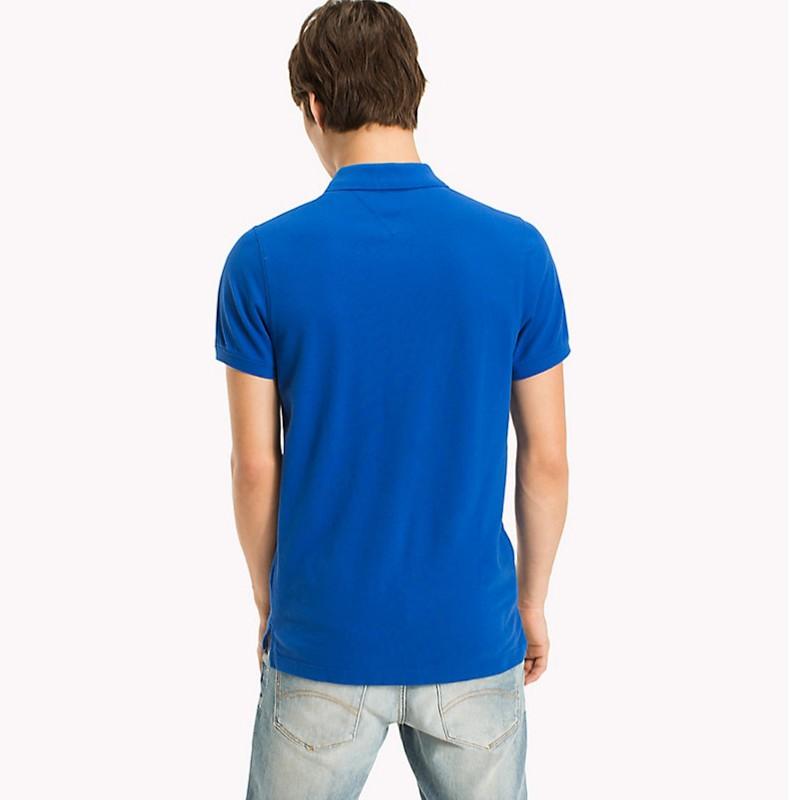 polo tommy hilfiger jeans homme en coton bleu vif nautical. Black Bedroom Furniture Sets. Home Design Ideas
