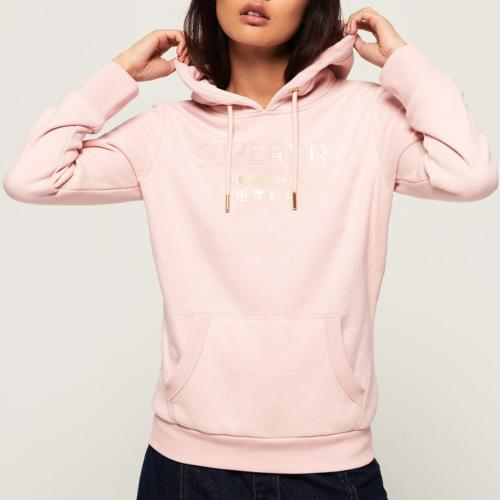 Sweat Superdry femme Premium Brand rose shell pink