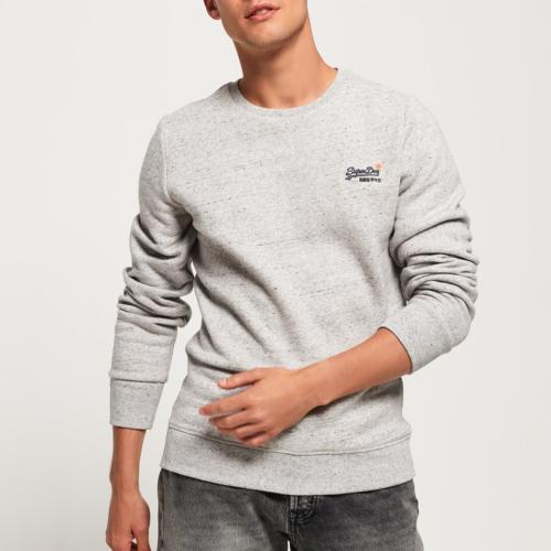 Sweat Superdry Orange Label gris, col rond