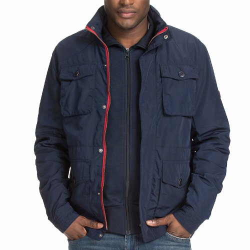 veste homme tommy hilfiger penn jacket bleu marine. Black Bedroom Furniture Sets. Home Design Ideas