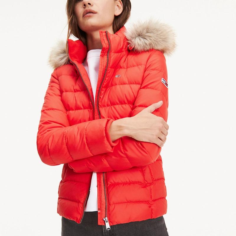acheter populaire 0d95c 3130b Doudoune rouge Tommy Hilfiger Jeans femme