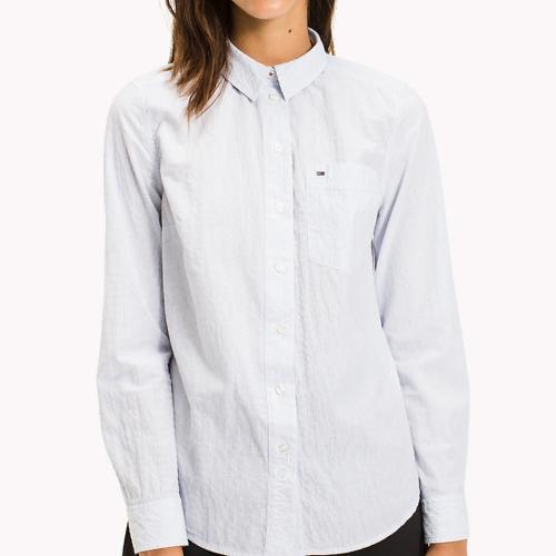 Chemise rayée Tommy Hilfiger Jeans femme coupe droite