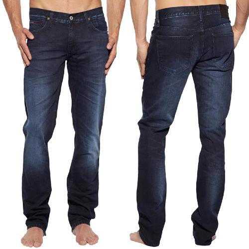 Jean Tommy Hilfiger Denim homme Scanton délavage Baker Blue Black