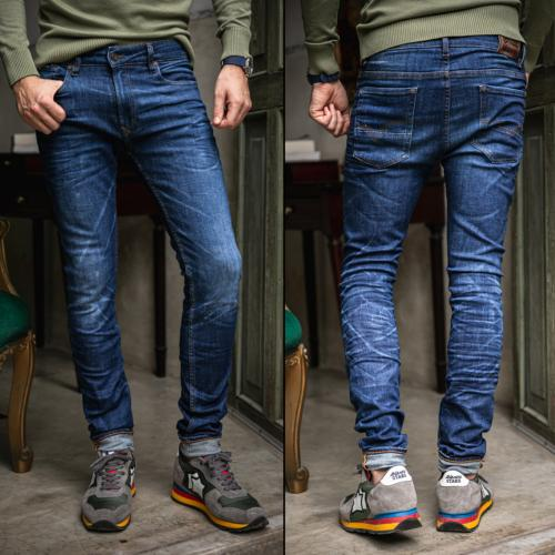 Jean homme Freeman T Porter Dustee Old coupe slim