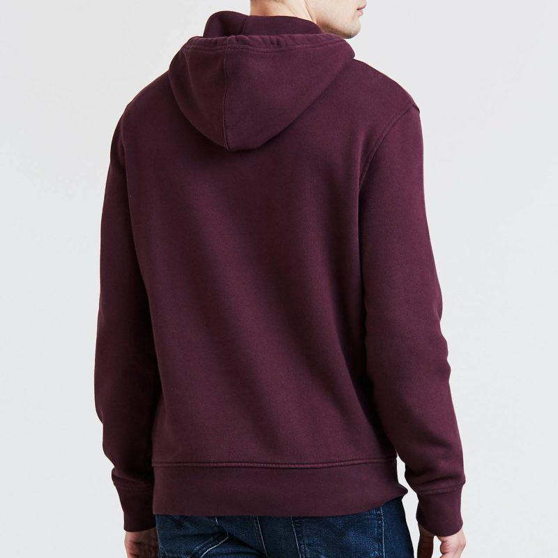 Sweat Rouge Purple À Fig Logo Pour Homme Levis Capuche qq7zr
