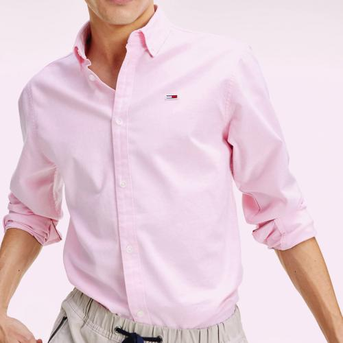 Chemise Rose Tommy Hilfiger / Tommy Jeans homme