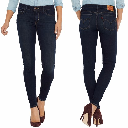 Jean Levis femme modèle 710 Innovation Super Skinny délavage Deep End