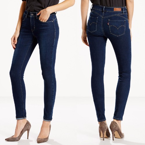 Jean Levis femme Revel délavage Canyon Country coupe skinny taille haute