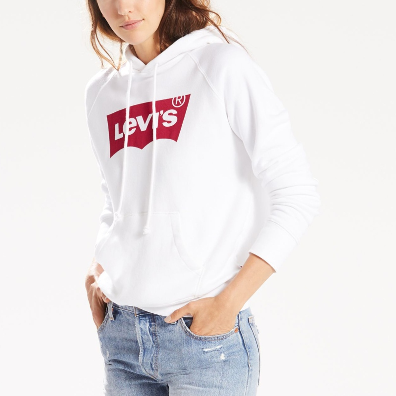 nuances de plus grand choix de grandes variétés Sweat Levis femme Graphic Sport Hoodie blanc logo Levi's rouge