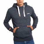 Sweat Superdry homme modèle Orange Label en coton bleu