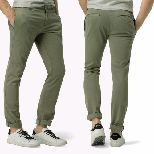 Pantalon Chino Tommy Hilfiger Denim homme kaki sea spray