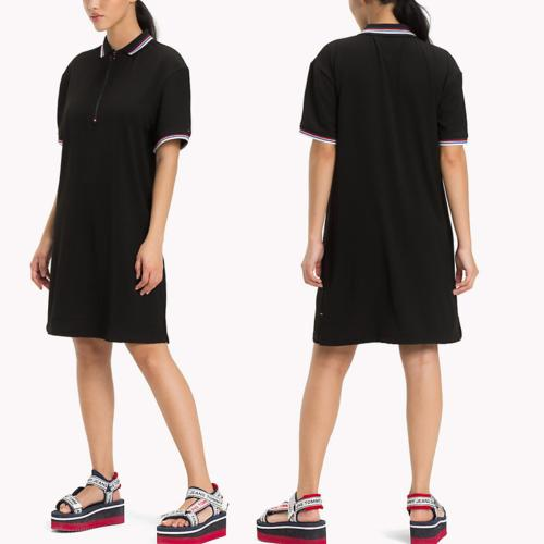 Robe polo noire Tommy Hilfiger Jeans