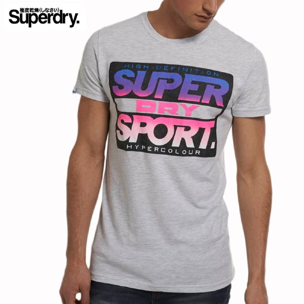 Superdry - Tee Shirt homme Superdry Hyper Colour gris