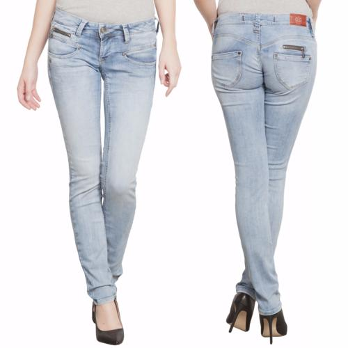 Jean Freeman T Porter femme coupe slim modèle Alexa Magic Denim délavage Flexy Bleached