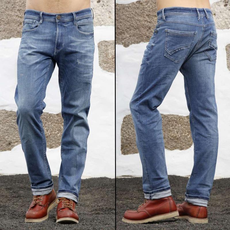 jeans freeman t porter homme jimmy straight bleu nado light. Black Bedroom Furniture Sets. Home Design Ideas