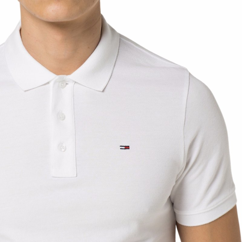 Polo blanc Tommy Hilfiger Jeans pour homme