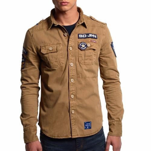 veste chemise superdry homme mod le delta shirt en coton. Black Bedroom Furniture Sets. Home Design Ideas
