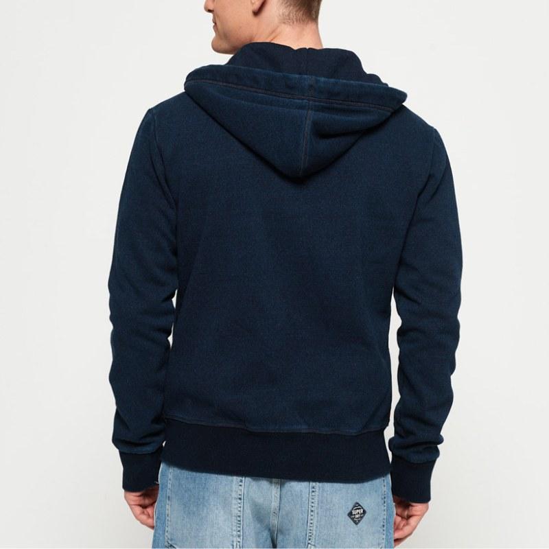 Veste Superdry homme modèle Orange Label bleu marine