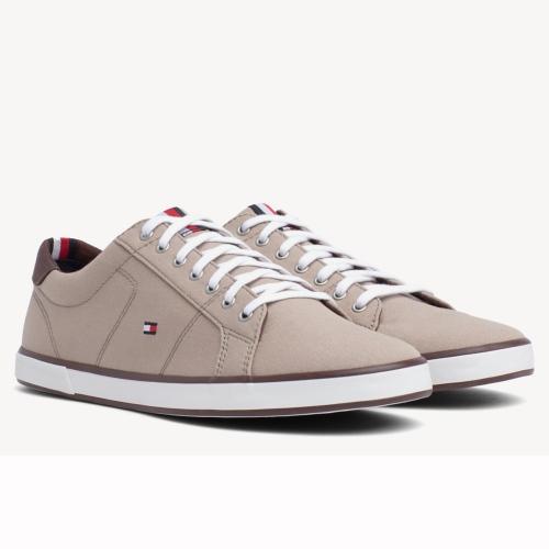 a5daa72378d Chaussures homme Tommy Hilfiger en toile beige et marron