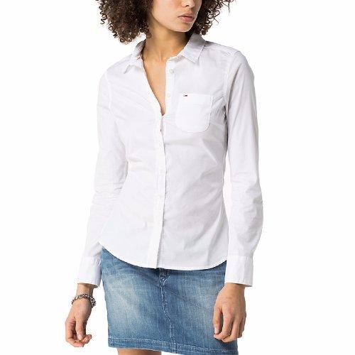 chemise tommy hilfiger femme mod le faybe blanche coupe cintr e. Black Bedroom Furniture Sets. Home Design Ideas