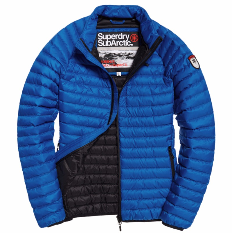 3f05fa479ab ... Doudoune en duvet Superdry homme modèle Core Down Jacket bleu cobalt