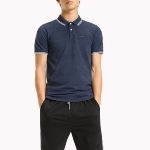 Polo homme Tommy Hilfiger Jeans bleu marine coupe slim fit