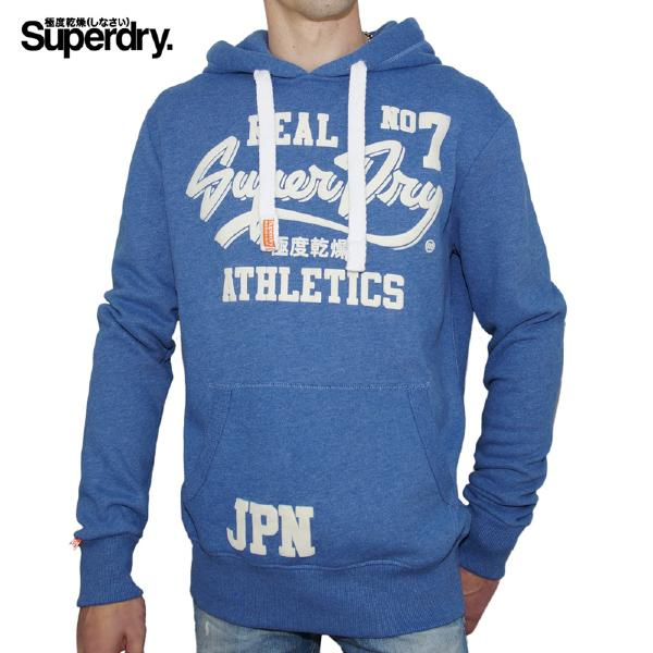 Sweat Superdry Real Number 7 bleu pour homme