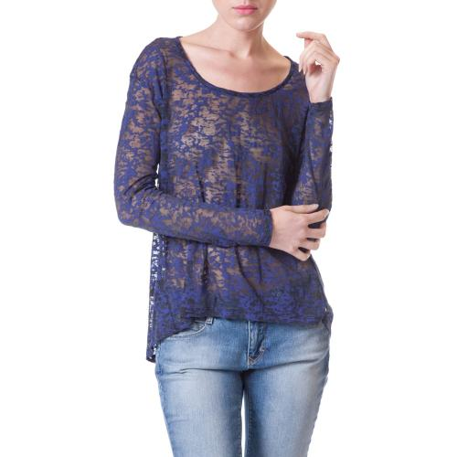 Top femme Freeman Porter Talmine couleur blue velvet