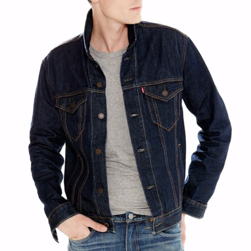 veste en jean levis homme the trucker jacket. Black Bedroom Furniture Sets. Home Design Ideas