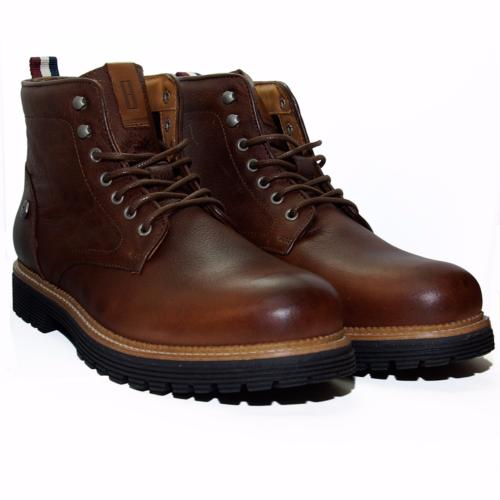 Chaussures Boots Tommy Hilfiger homme en cuir marron