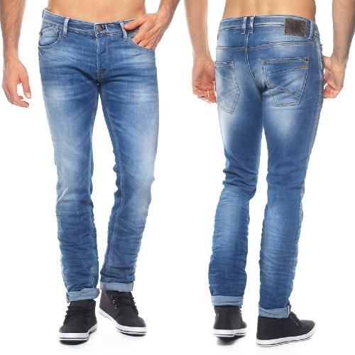 Jean Japan Rags 711 coupe Loose Slim délavage T218