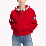 Sweat capuche oversize Tommy Hilfiger Jeans femme rouge