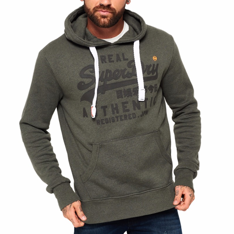 Sweat à capuche Superdry homme authentic tonal hood gris