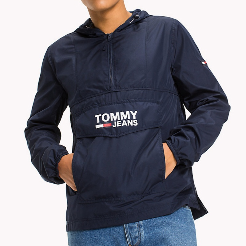 blouson veste coupe vent enfilable tommy hilfiger jeans. Black Bedroom Furniture Sets. Home Design Ideas