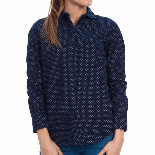 chemise tommy hilfiger femme mod le naomi bleu marine pois blancs. Black Bedroom Furniture Sets. Home Design Ideas