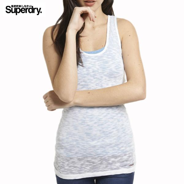 Débardeur femme Superdry modèle Burnout Tank Blanc optic