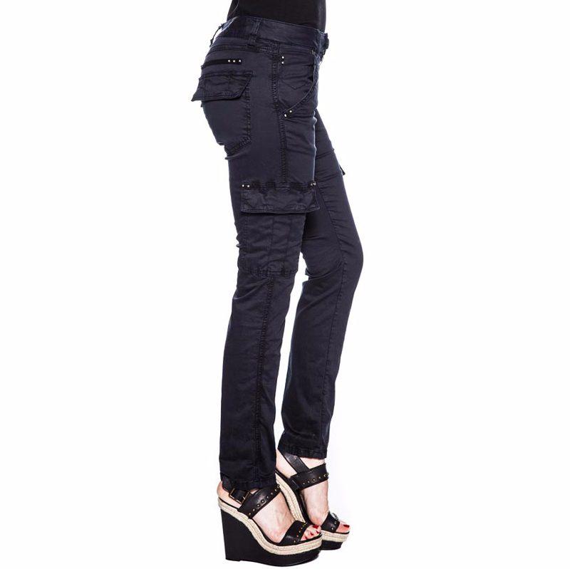 Site officiel beaucoup de styles qualité fiable pantalon cargo Freeman T Porter femme modèle Lucyle couleur bleu storm
