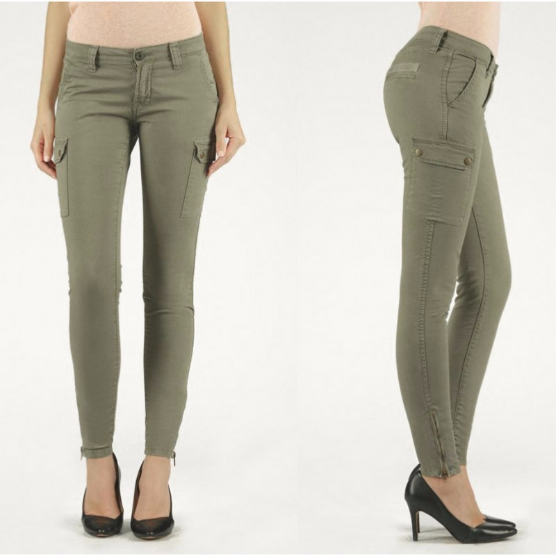 clearance prices factory outlets popular brand Pantalon Treillis Le Temps des Cerises Army Kaki militaire