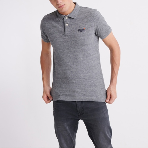 Polo Superdry homme gris