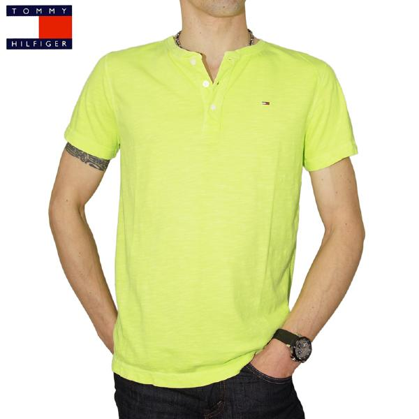 Tee Shirt homme Tommy Hilfiger Trump couleur neon yellow