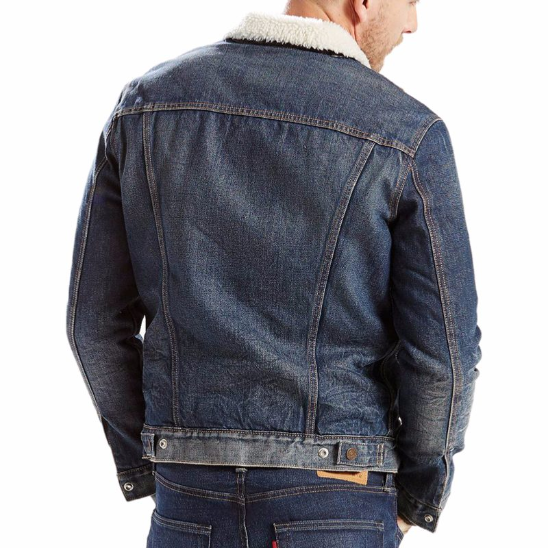 levis sherpy trucker veste en jean homme. Black Bedroom Furniture Sets. Home Design Ideas