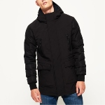 Manteau Superdry homme Edit Commuter Mix Parka noir
