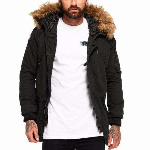 Parka Superdry homme Rookie Heavy Weather anthracite