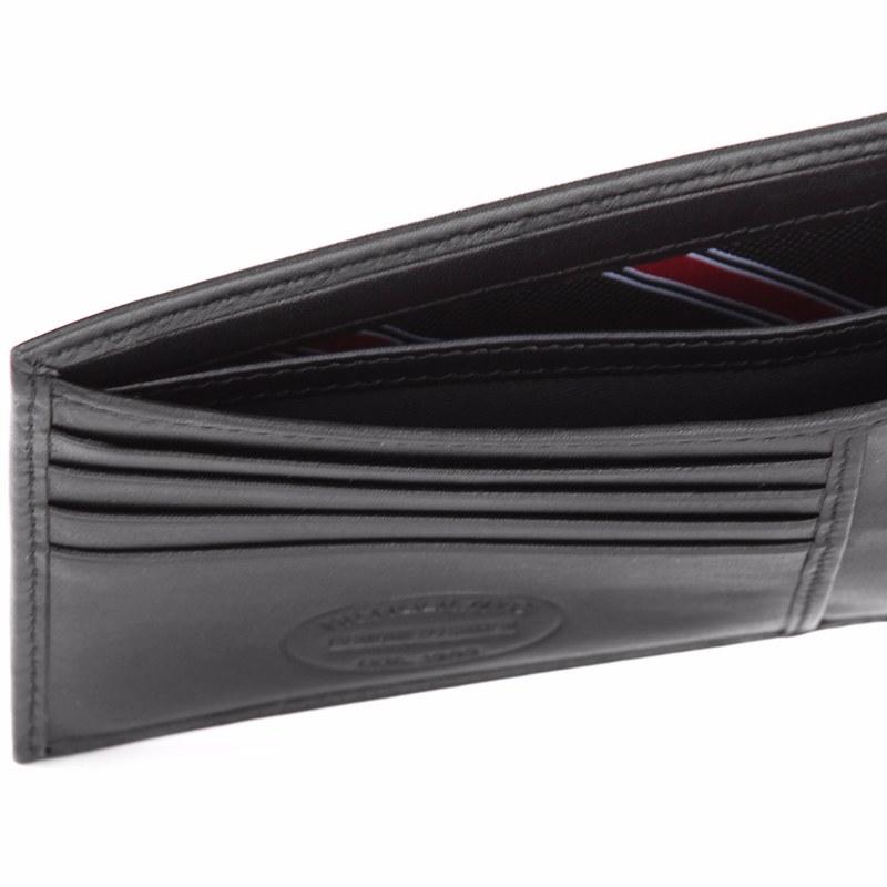 173e20e3d4d ... portefeuille Tommy Hilfiger modèle Eton en cuir noir ou marron ...