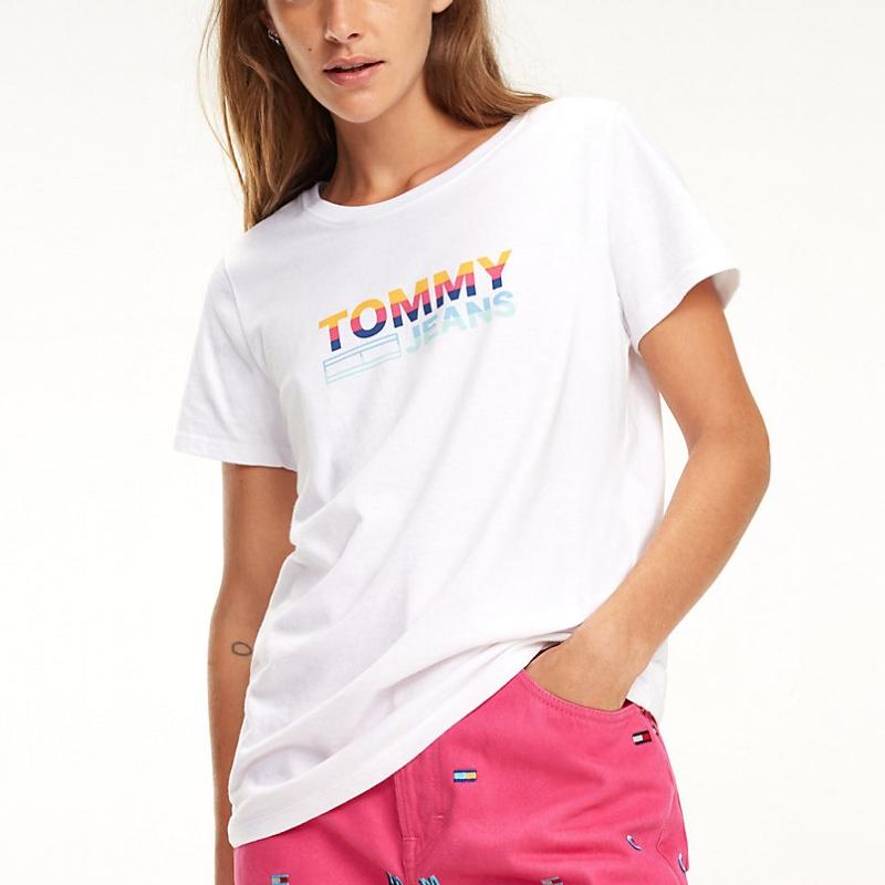 T shirt 100% coton biologique bleu marine femme · Tommy