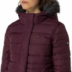 Doudoune femme Tommy Hilfiger Denim coloris Grape Wine